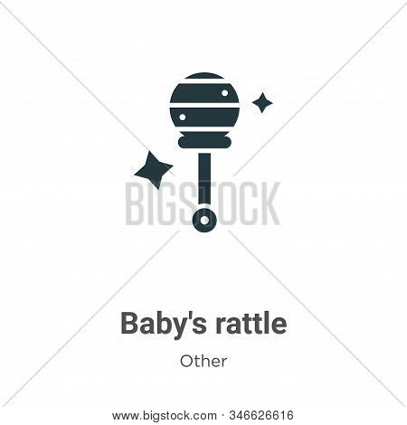 Babys Rattle Glyph Icon Vector On White Background. Flat Vector Babys Rattle Icon Symbol Sign From M