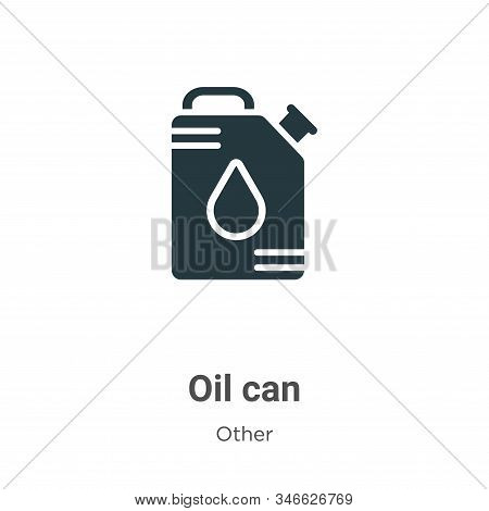 Oil can icon isolated on white background from other collection. Oil can icon trendy and modern Oil