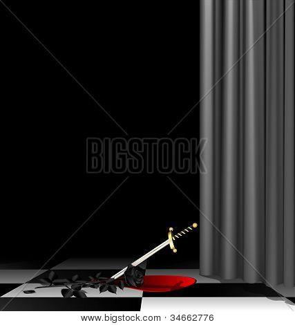 dark room, black rose and whinger