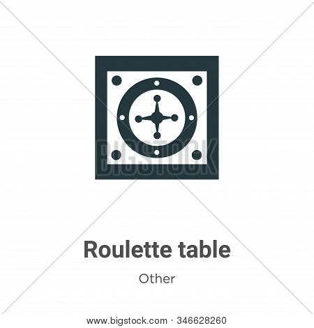 Roulette table icon isolated on white background from other collection. Roulette table icon trendy a