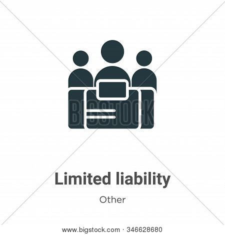 Limited Liability Glyph Icon Vector On White Background. Flat Vector Limited Liability Icon Symbol S