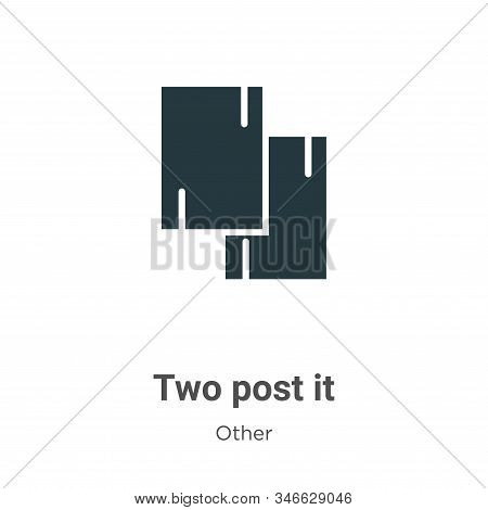 Two post it icon isolated on white background from other collection. Two post it icon trendy and mod