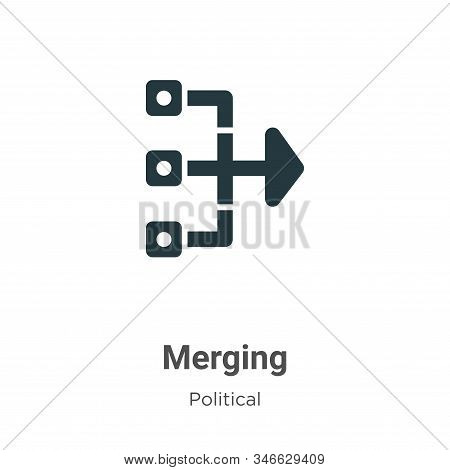 Merging icon isolated on white background from political collection. Merging icon trendy and modern