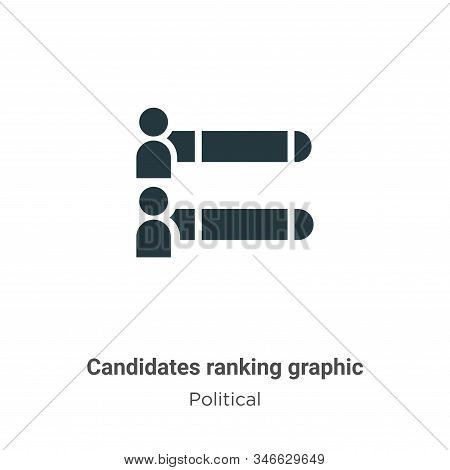 Candidates ranking graphic icon isolated on white background from political collection. Candidates r