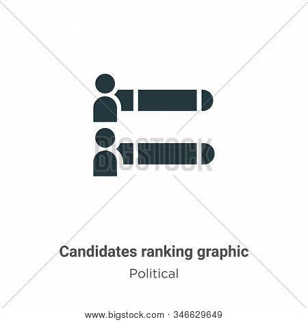 Candidates Ranking Graphic Glyph Icon Vector On White Background. Flat Vector Candidates Ranking Gra