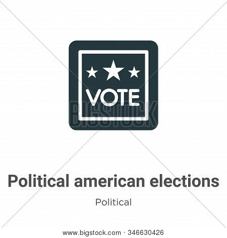 Political american elections publicity badge icon isolated on white background from political collec