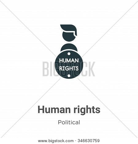 Human Rights Glyph Icon Vector On White Background. Flat Vector Human Rights Icon Symbol Sign From M