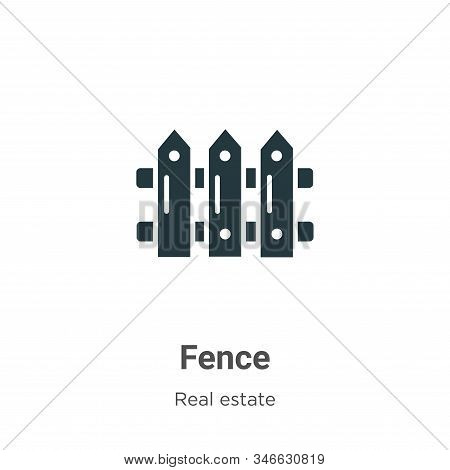 Fence icon isolated on white background from real estate collection. Fence icon trendy and modern Fe