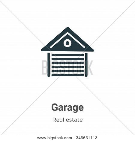 Garage icon isolated on white background from real estate collection. Garage icon trendy and modern