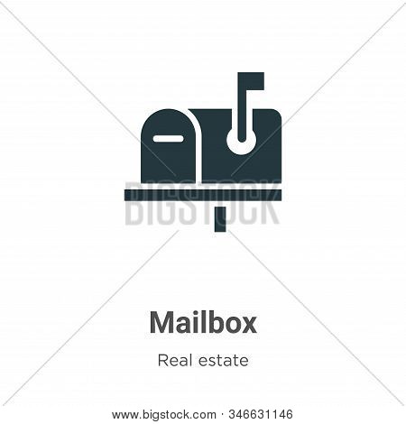Mailbox icon isolated on white background from real estate collection. Mailbox icon trendy and moder