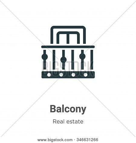 Balcony icon isolated on white background from real estate collection. Balcony icon trendy and moder