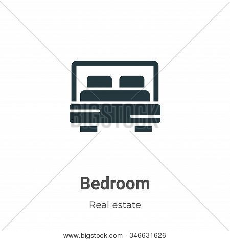 Bedroom Glyph Icon Vector On White Background. Flat Vector Bedroom Icon Symbol Sign From Modern Real