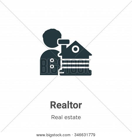 Realtor icon isolated on white background from real estate collection. Realtor icon trendy and moder