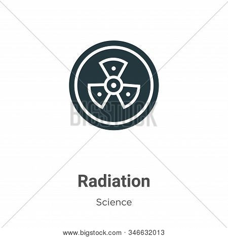 Radiation Glyph Icon Vector On White Background. Flat Vector Radiation Icon Symbol Sign From Modern