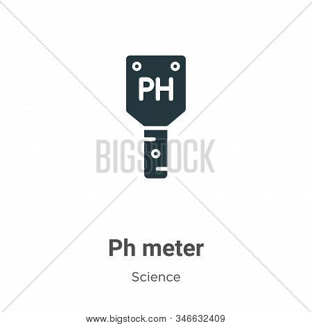 Ph meter icon isolated on white background from science collection. Ph meter icon trendy and modern