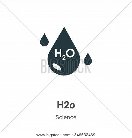 H2o icon isolated on white background from science collection. H2o icon trendy and modern H2o symbol