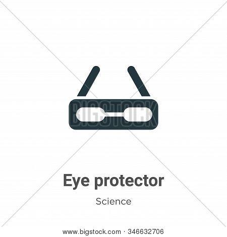 Eye Protector Glyph Icon Vector On White Background. Flat Vector Eye Protector Icon Symbol Sign From