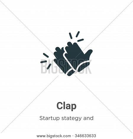 Clap icon isolated on white background from startup stategy and success collection. Clap icon trendy