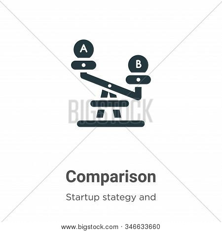 Comparison icon isolated on white background from startup stategy and success collection. Comparison