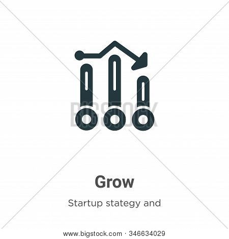 Grow icon isolated on white background from startup stategy and success collection. Grow icon trendy