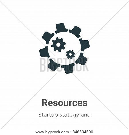 Resources icon isolated on white background from startup stategy and success collection. Resources i