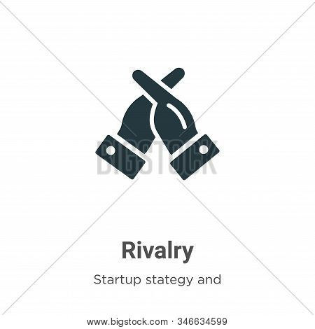 Rivalry Glyph Icon Vector On White Background. Flat Vector Rivalry Icon Symbol Sign From Modern Star
