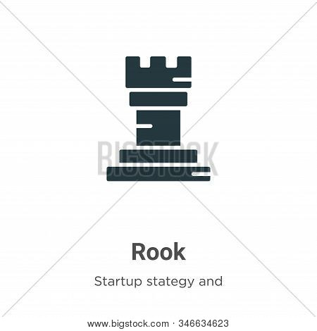 Rook icon isolated on white background from startup stategy and success collection. Rook icon trendy