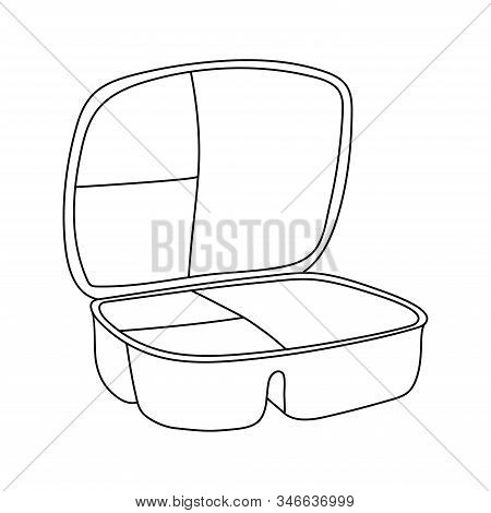 Linear Lunch Box Icon From Education Outline Collection. Thin Line Lunch Box Icon Vector Isolated On