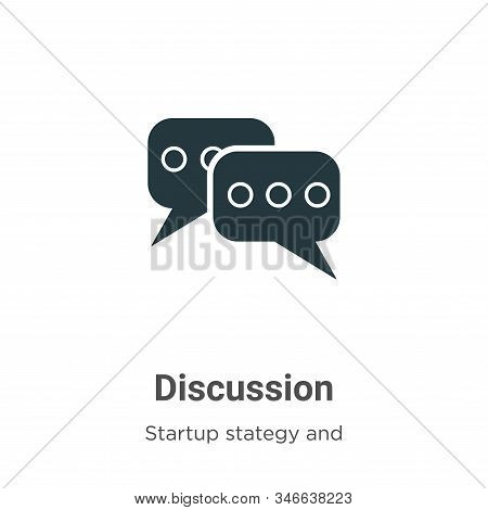 Discussion icon isolated on white background from startup collection. Discussion icon trendy and mod
