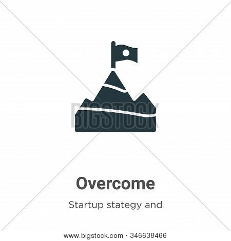 Overcome Glyph Icon Vector On White Background. Flat Vector Overcome Icon Symbol Sign From Modern St
