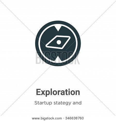 Exploration icon isolated on white background from startup collection. Exploration icon trendy and m