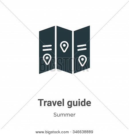 Travel guide icon isolated on white background from summer collection. Travel guide icon trendy and