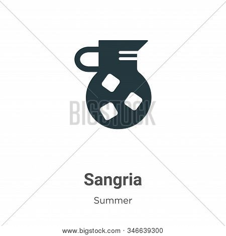 Sangria icon isolated on white background from summer collection. Sangria icon trendy and modern San