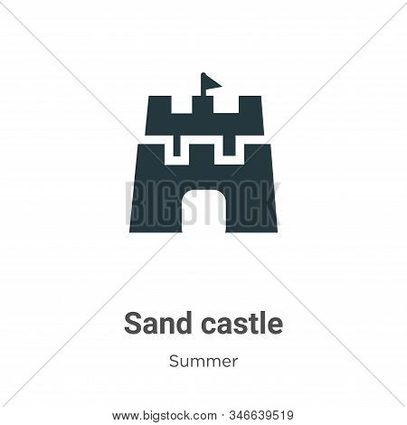 Sand castle icon isolated on white background from summer collection. Sand castle icon trendy and mo
