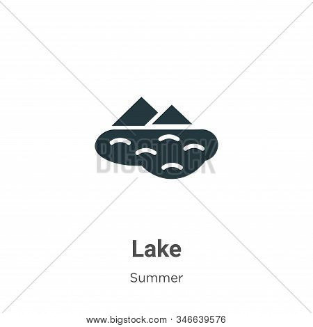 Lake icon isolated on white background from summer collection. Lake icon trendy and modern Lake symb