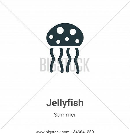 Jellyfish icon isolated on white background from summer collection. Jellyfish icon trendy and modern