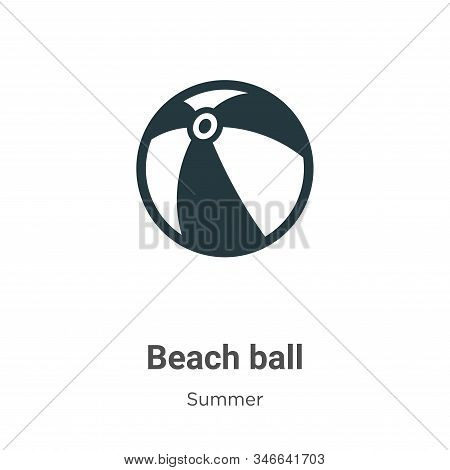 Beach ball icon isolated on white background from summer collection. Beach ball icon trendy and mode