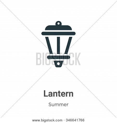 Lantern icon isolated on white background from summer collection. Lantern icon trendy and modern Lan