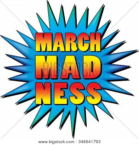 Colorful March Madness Starburst Brightly Colored Graphic