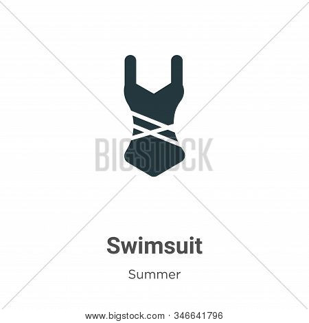 Swimsuit icon isolated on white background from summer collection. Swimsuit icon trendy and modern S