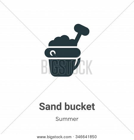 Sand bucket icon isolated on white background from summer collection. Sand bucket icon trendy and mo