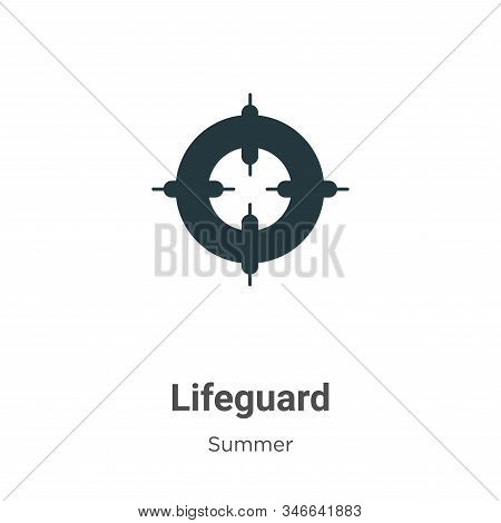 Lifeguard icon isolated on white background from summer collection. Lifeguard icon trendy and modern