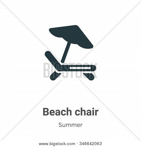 Beach chair icon isolated on white background from summer collection. Beach chair icon trendy and mo