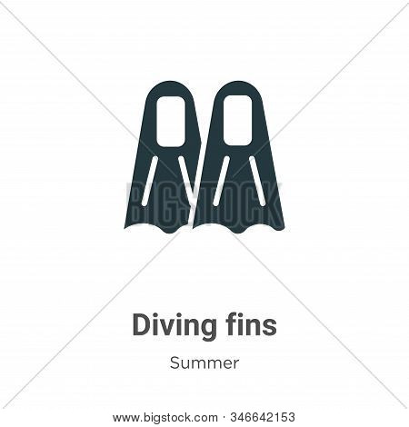 Diving fins icon isolated on white background from summer collection. Diving fins icon trendy and mo