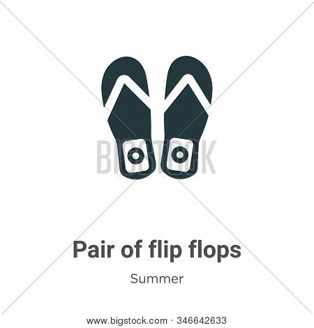 Pair of flip flops icon isolated on white background from summer collection. Pair of flip flops icon