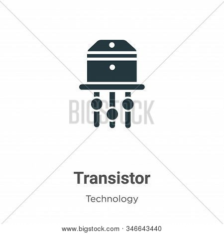 Transistor icon isolated on white background from technology collection. Transistor icon trendy and