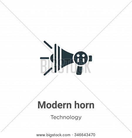 Modern horn icon isolated on white background from technology collection. Modern horn icon trendy an