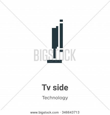 Tv side icon isolated on white background from technology collection. Tv side icon trendy and modern