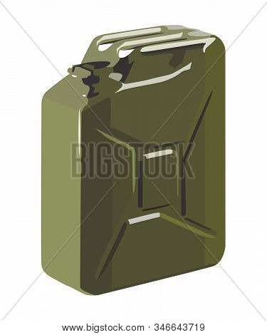 Jerrycan Realistic Vector Illustration Isolated No Background