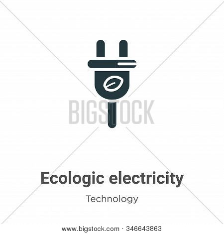 Ecologic electricity icon isolated on white background from technology collection. Ecologic electric
